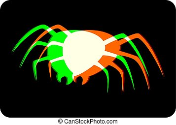 spider visual effect black symbol