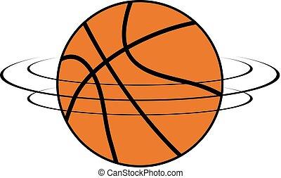 spinning basket ball