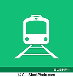 Subway flat icon - Creative design of Subway flat icon