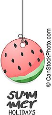 summer holidays watermelon illustration