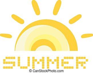 Summer icon - Creative design of Summer icon