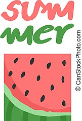 summer watermelon symbol