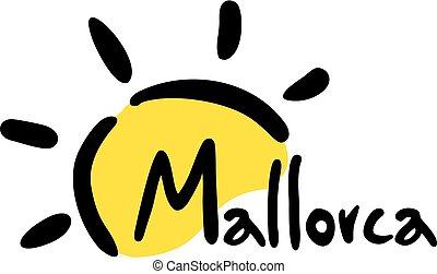 Sun Mallorca symbol - Creative design of Sun Mallorca symbol