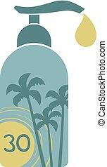sun protect bottle number 30 - Creative design of sun...