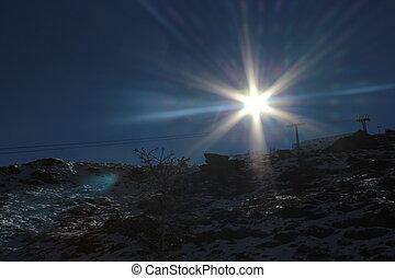 Sun ray photo