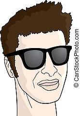 sunglasses man - Creative design of sunglasses man