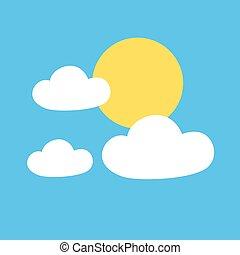 Creative design of sunny sky