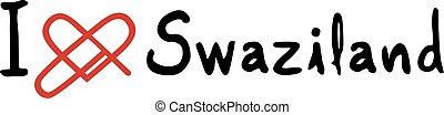 Swaziland love icon - Creative design of Swaziland love icon