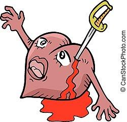 Sword heart - Creative design of Sword heart