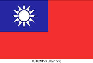 Taiwan flag illustration