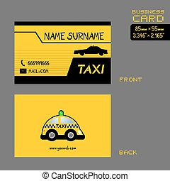 taxi driver business card art