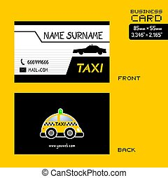 taxi business card ideal for taxi drivers checkered taxi. Black Bedroom Furniture Sets. Home Design Ideas