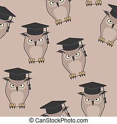 teacher owl seamless