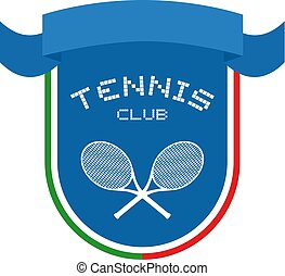 tennis club ribbon emblem
