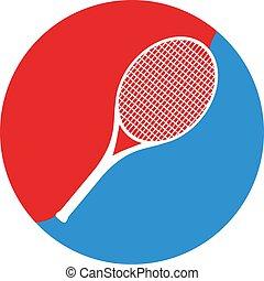 tennis racket symbol - Creative design of tennis racket...