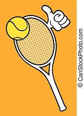 Tennis vector racket