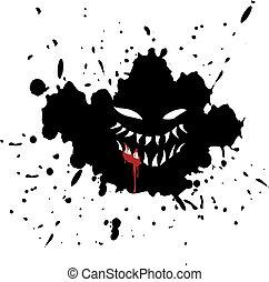 terror face draw
