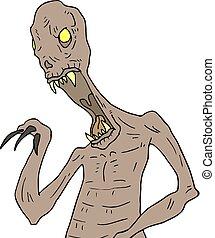 terror monster draw - Creative design of terror monster draw
