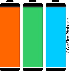 three color batteries
