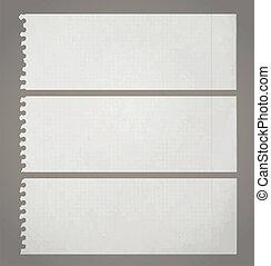 Creative design of three old paper