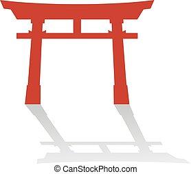 Creative design of torii door illustration
