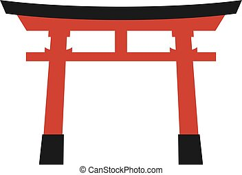 Creative design of torii gate icon