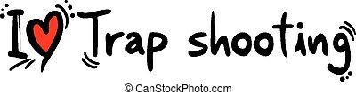 Trap shooting love - Creative design of Trap shooting love