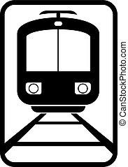 trolley car sign - Creative design of trolley car sign