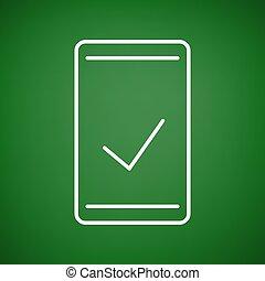 true check icon - Creative design of true check icon