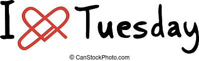Tuesday love icon - Creative design of Tuesday love icon