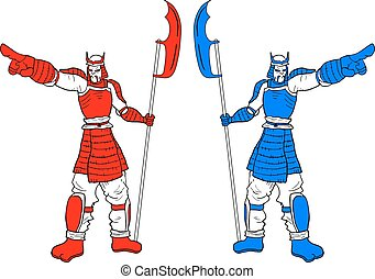 Two warrior - Creative design of Two warrior