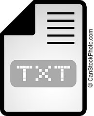 txt symbol - Creative design of txt symbol