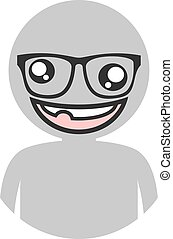 ugly boy icon - Creative design of ugly boy icon