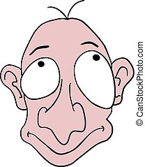 ugly cartoon face - Creative design of ugly cartoon face