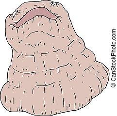 ugly monster illustration - Creative design of ugly monster...