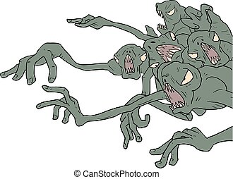 ugly monsters draw - Creative design of ugly monsters draw
