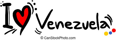 Venezuela love - Creative design of Venezuela love message