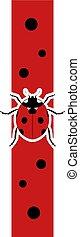 vertical ladybug banner