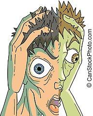 very crazy face - Creative design of very crazy face