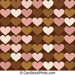 vintage art hearts background - Creative design of vintage...