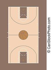 vintage basket court