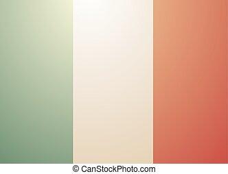 vintage Italy flag