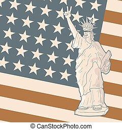 vintage patriot flag