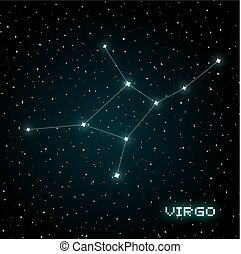 Virgo constellation design - Creative design of Virgo...