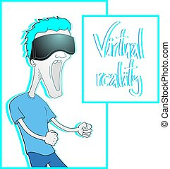 virtual reality funny illustration