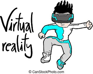 virtual reality kid - Creative design of virtual reality kid