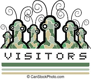 visitors illustration - Creative design of visitors...