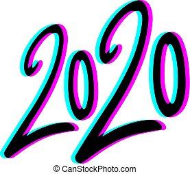 Creative design of visual 2020 year