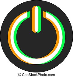 Visual activate button symbol - Creative design of Visual...