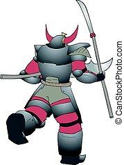 warrior attack - creative design of warrior attack